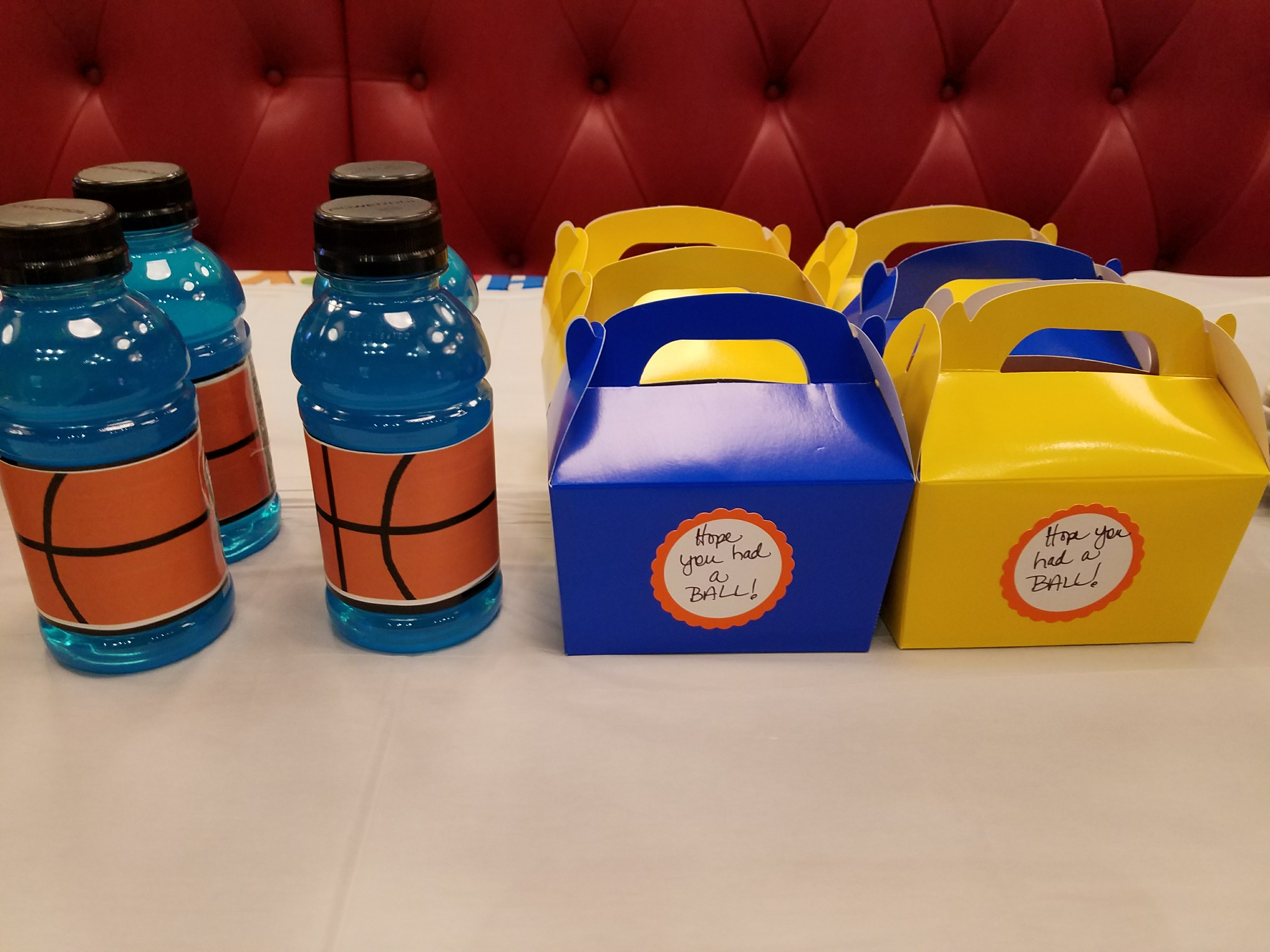 Basketball Labels and Mini Treat Boxes