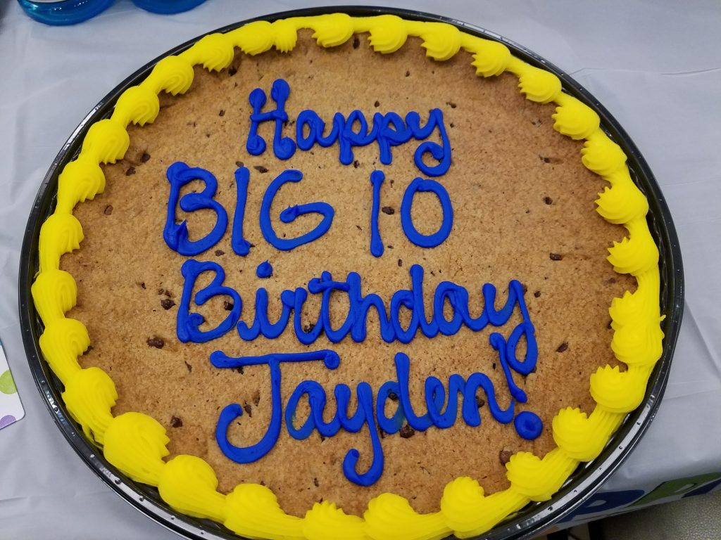 Chocolate Chip Cookie Cake from HEB